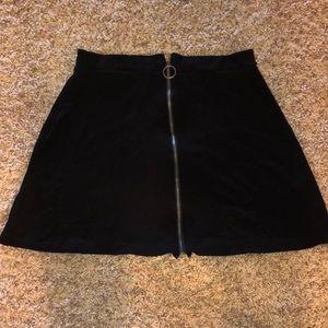 Black mini skirt, size 28